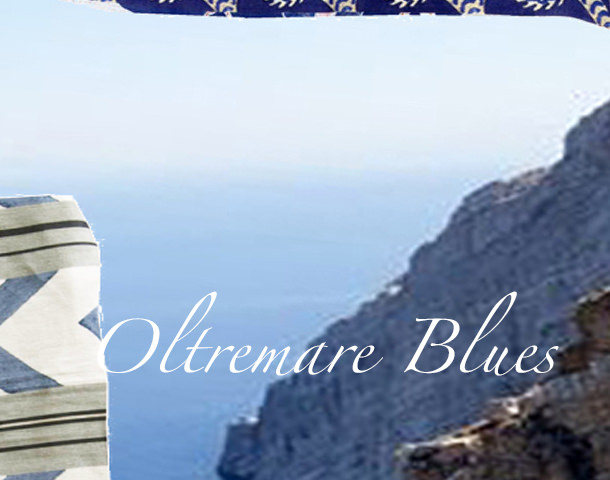 A  summer selection of  Oltremare  blues  fabrics