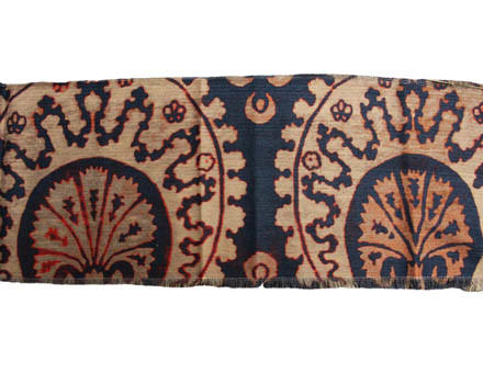 Venice Ottoman Blue & Red touch