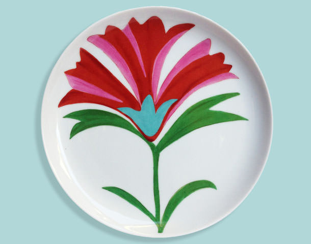 The Poppy Plates from the Imperial collection