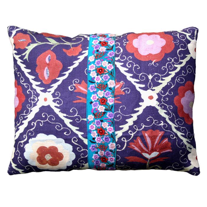 cuscino viola fascia grande
