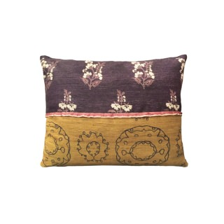 Flower in the snow purple pillow