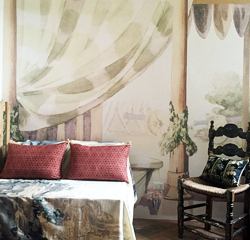 In the tent of Antonio Basoli   wallpaper & silk   1789 ca