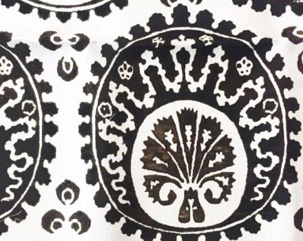 Venice Ottoman Bianco e Nero