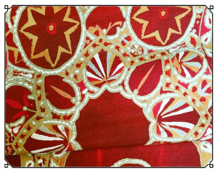 Suzani Red & Ocra