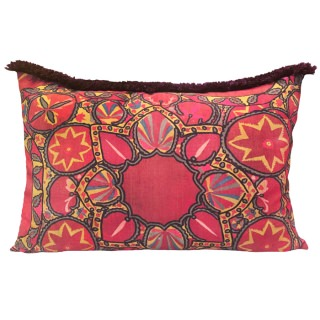 Suzani Deep Red pillow