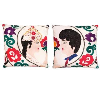 Uzbek Wedding a set of n. 2 pillows